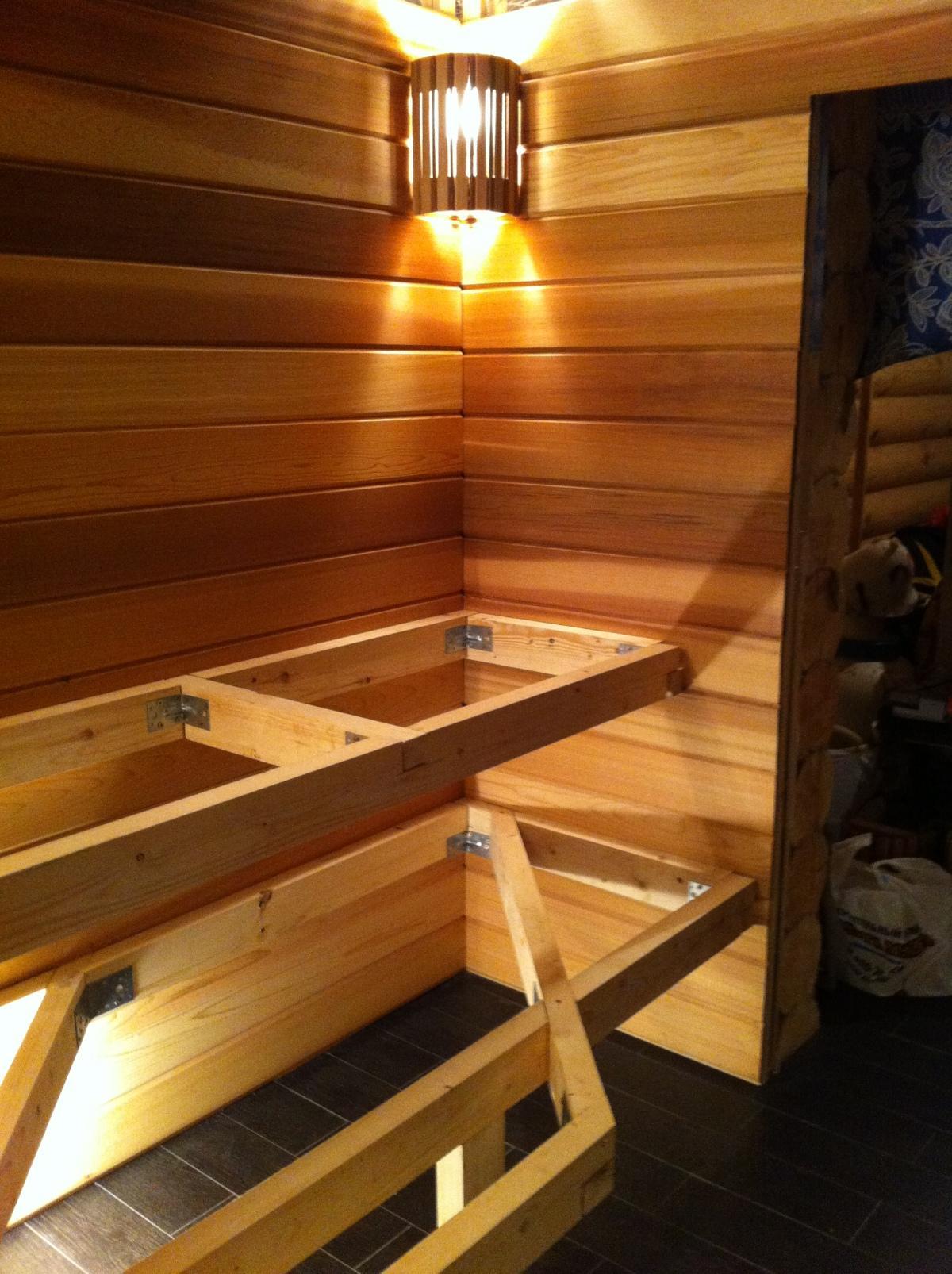 Построить полок для бани своими руками