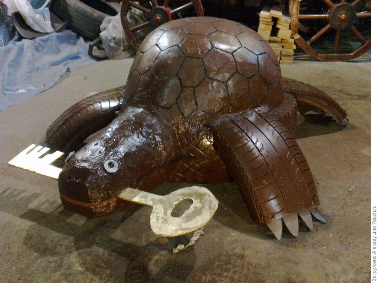 Как сделать черепаху своими руками для сада из цемента 17