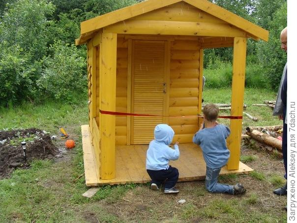 Детский домик для дачи своими руками инструкция