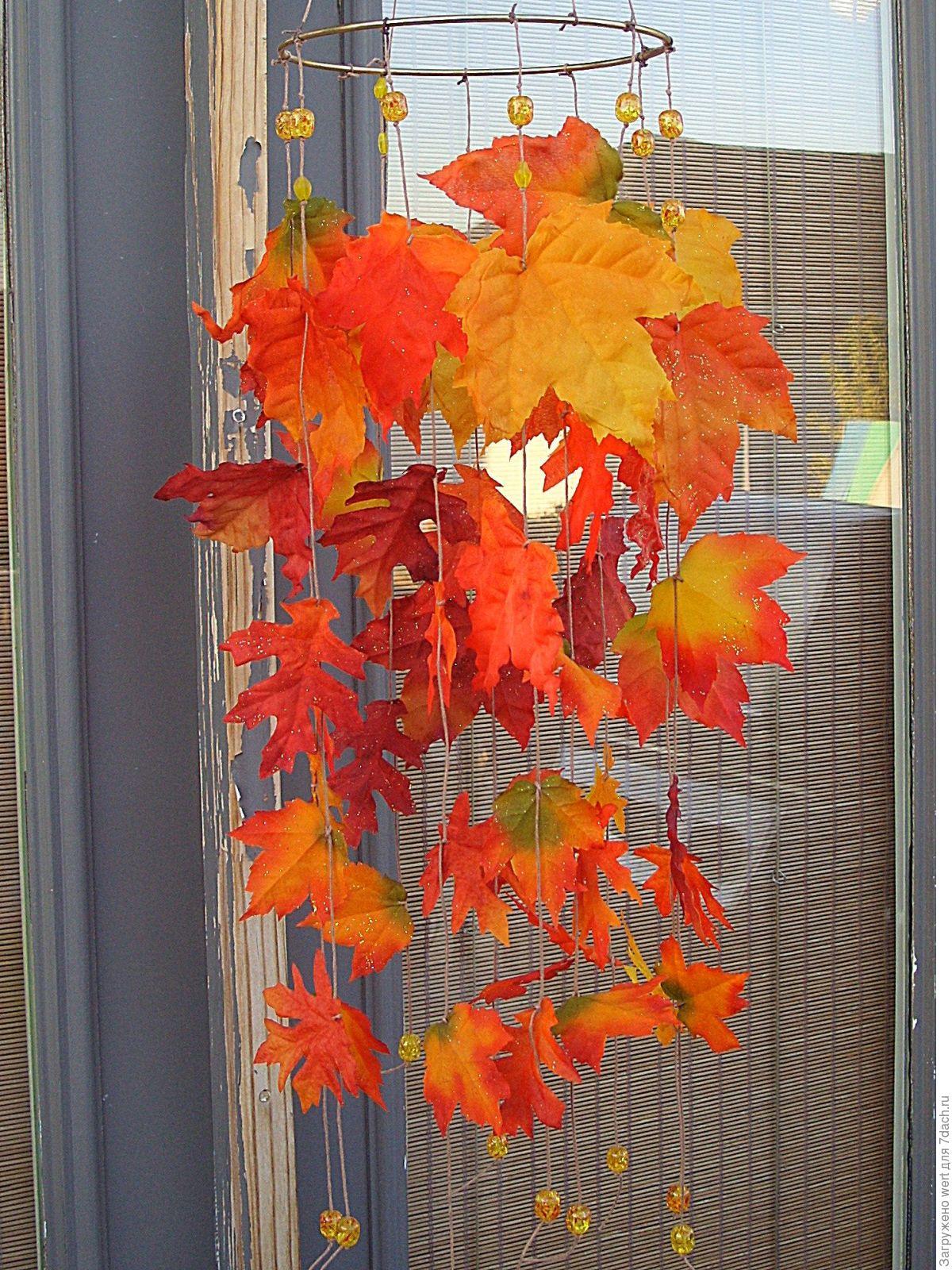 Поделки из клёновых листьев 948