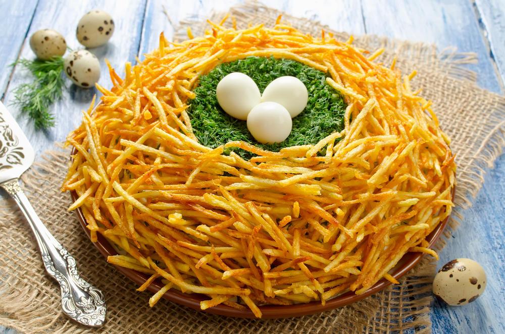 Салат осиное гнездо рецепт с фото пошагово
