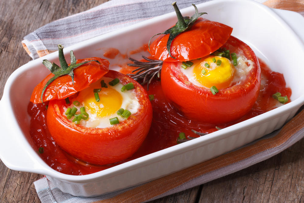 Запеченные помидоры фото рецепт