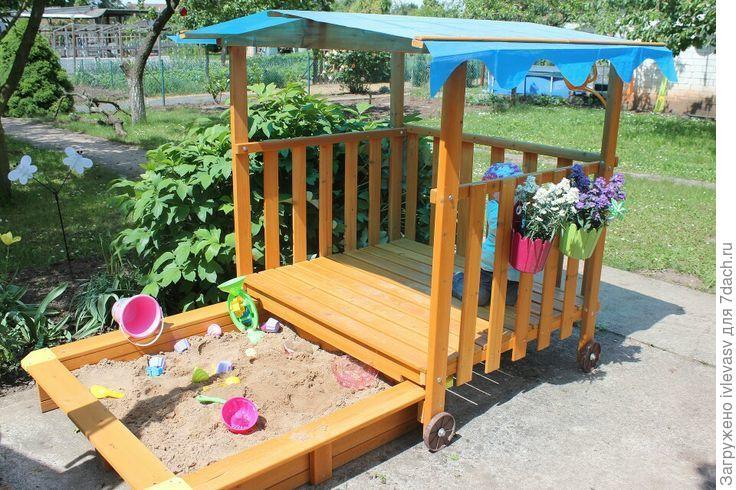 Детская площадка своими руками на даче из подручных средств фото 57