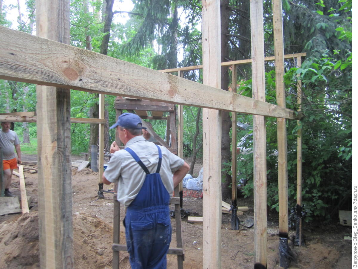 Сарай из бруса своими руками строительство деревянных 58
