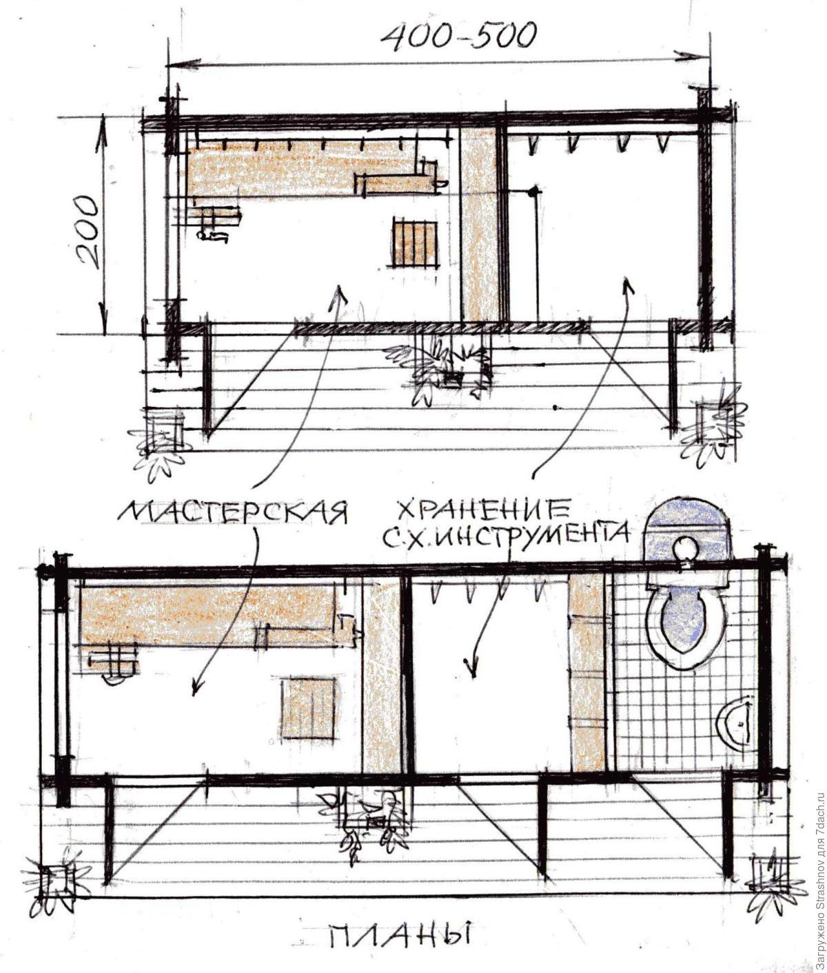 Сарай своими руками: чертежи, список стройматериалов, проекты 67