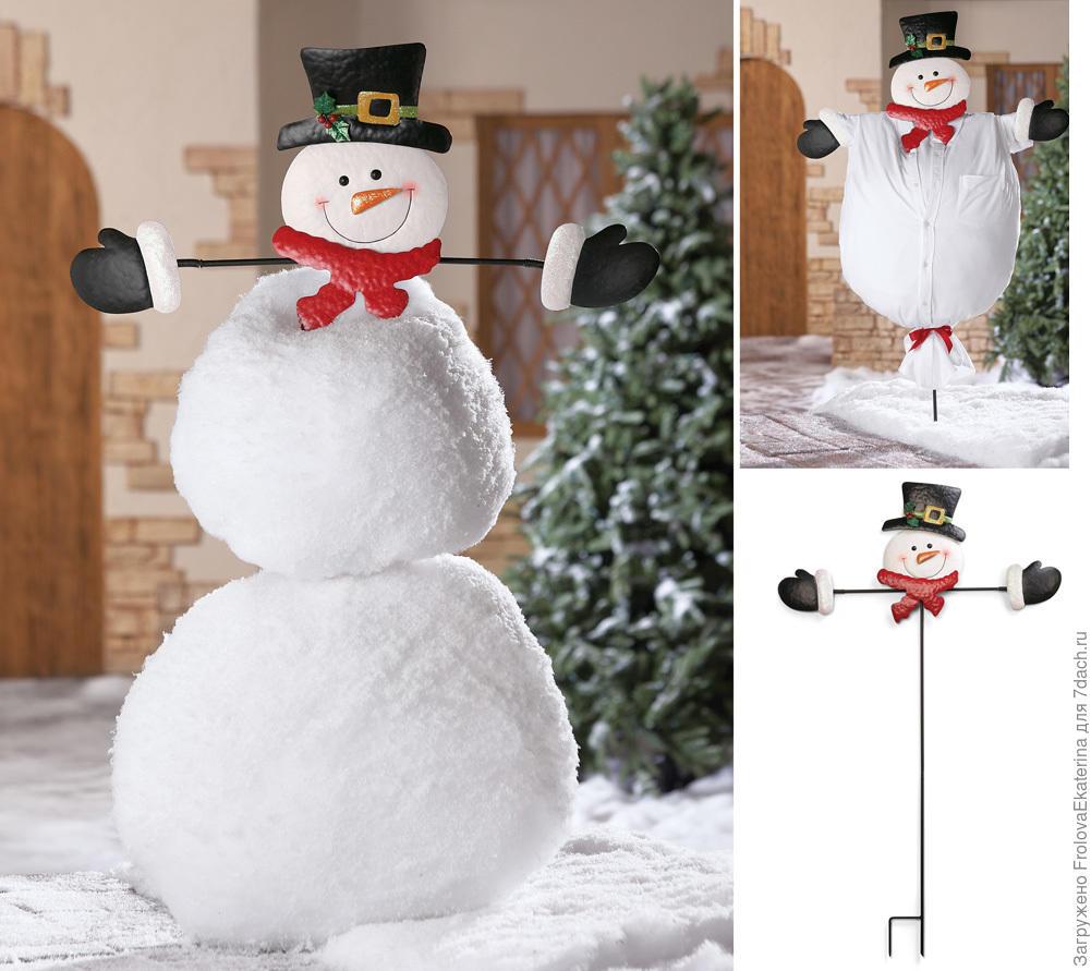 Украшение снеговика своими руками 14