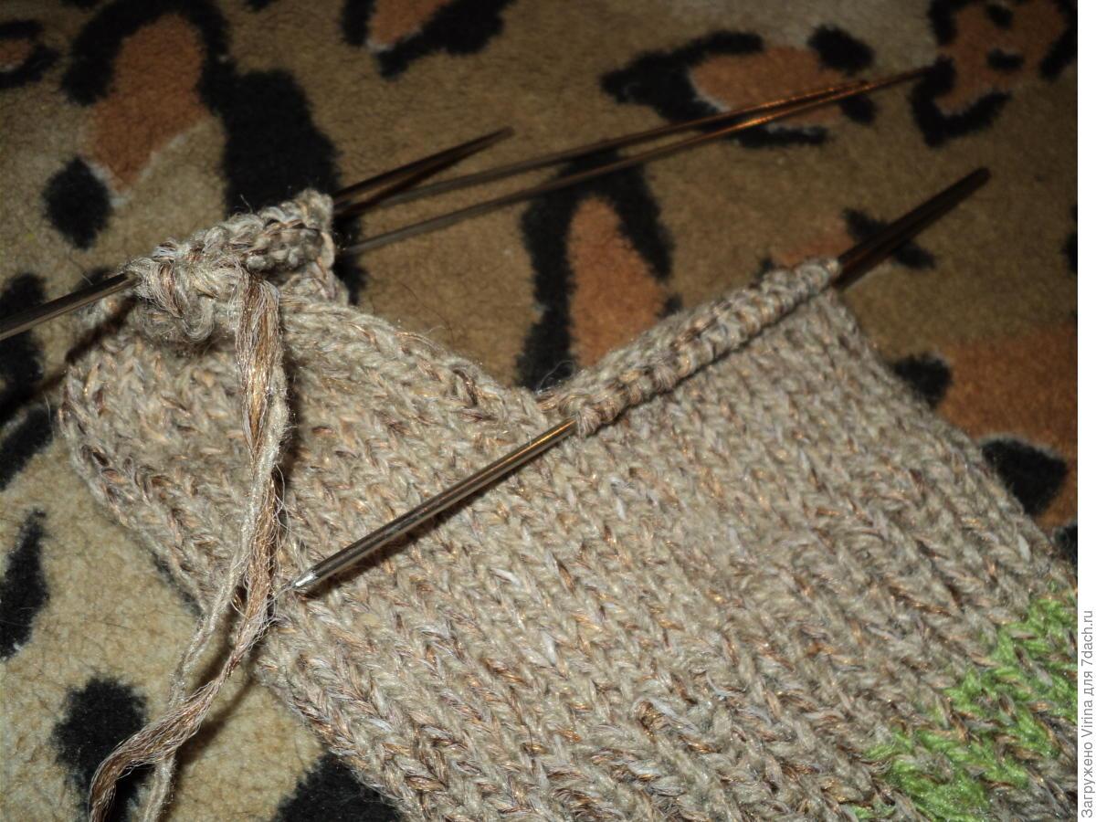Как набрать петли в процессе вязания