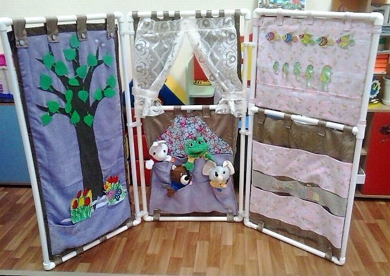 Ширмы для театра детского сада своими руками фото