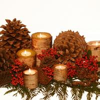 Новогодние поделки из дров: поленница идей