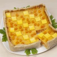 Тыквенно-сырный пирог