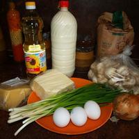 Блинные мешочки с грибами и сыром