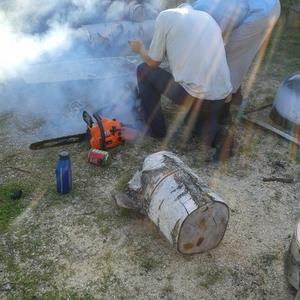 Пока дрова пилили, всю деревню задымили (помощники)