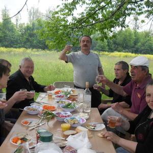 С друзьями на пикнике