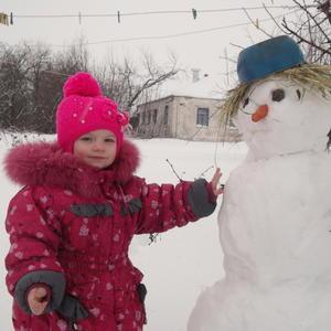 Слепили снеговик......
