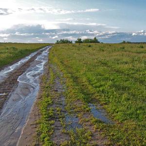 Дорога в Семёновское после дождя