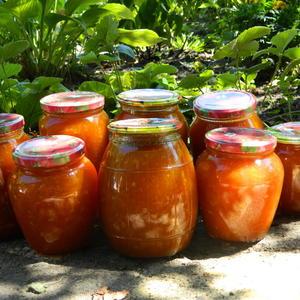Частичка летнего солнышка в баночках - абрикос с апельсином, ну очень вкусно!
