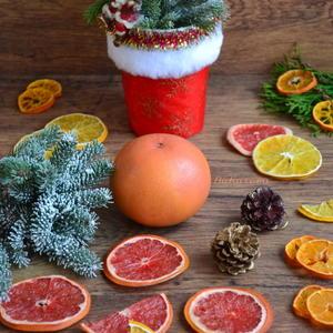 Засушенные цитрусовые - прекрасное новогоднее украшение