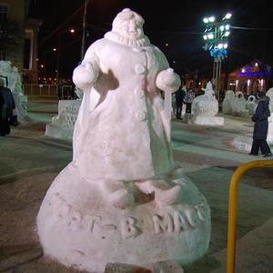 Вот она - настоящая снежная баба на... лыжах