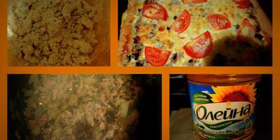 Пирог-сметанник с курицей и грибами «Нежность»