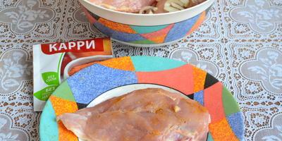 Куриное филе под сырной шубкой