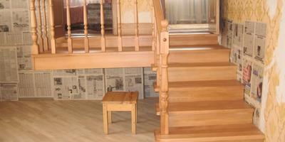 Лестница на даче.