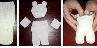 Олимпийский белый мишка своими руками