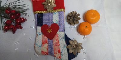 Новогодний сапожок - шьем для всей семьи...
