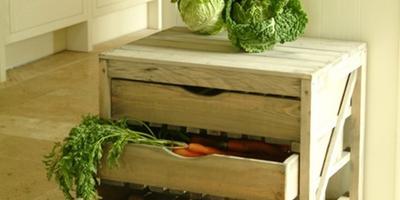 Интересный ящик для хранения урожая