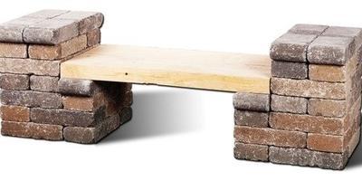 Дачная скамейка на скорую руку