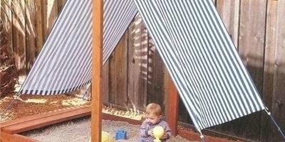 Еще один вариант детской песочницы