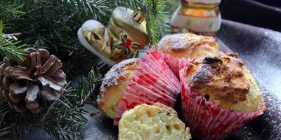 Рождественские кексы с имбирем, изюмом и цукатами