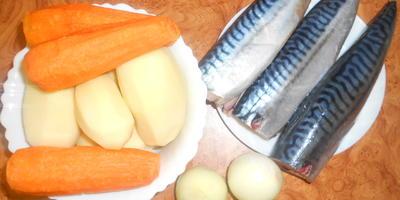 Скумбрия тушеная с овощами