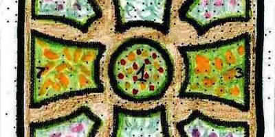 2 декоративных огорода с растительным орнаментом