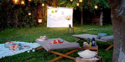 Как сделать кинотеатр в саду