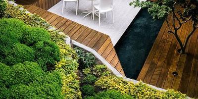 Как создать современный сад на крутом склоне
