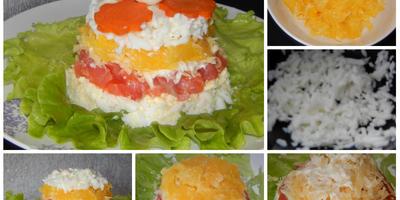 Нежный салат с семгой и апельсинами