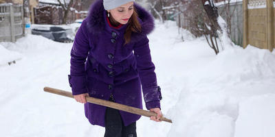 Отзыв о лопате для уборки снега SANTOOL