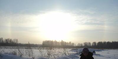 Волшебство солнца в зимнее время!