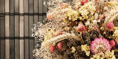 Как украсить свой дом, используя засушенные листья и цветы