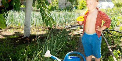 Как обустроить детский огород