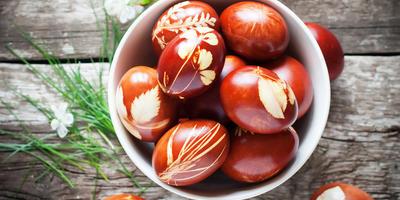 Пасхальный натюрморт, или Необычный декор пасхальных яиц