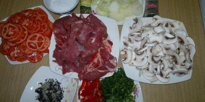 Буглама (нежное мясо с овощами и грибами)
