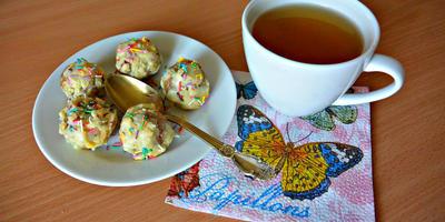 Миндальные конфеты в белом шоколаде