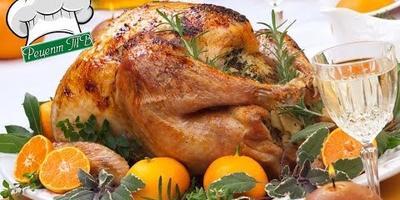 Рождественская курица, запеченная с мандаринами