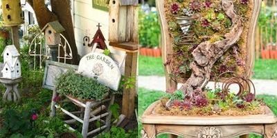 Интересные элементы декора для вашего сада!