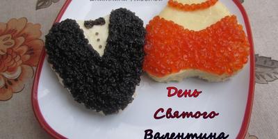 """Праздничные бутерброды ко """"Дню святого Валентина"""""""