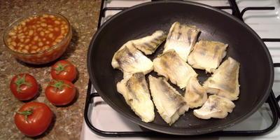 Филе судака с овощами