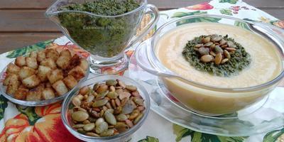 Суп-пюре из тыквы в азиатском стиле (подходит для поста)
