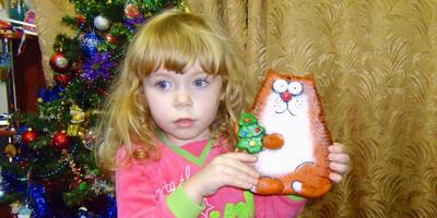 Кот из соленого теста в подарок