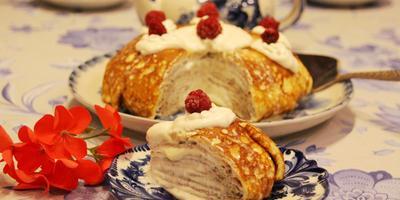 Проводы зимы (печем блины дрожжевые и блинный торт)